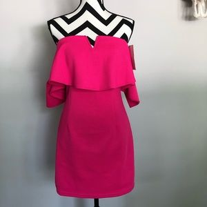 She and Sky✨NWT hot pink off shoulder dress